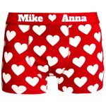 Rote Liebes Boxershort